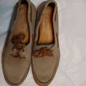 Sperry top spider gold Cup loafers
